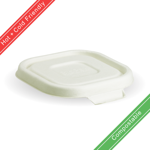 280, 480 & 630ml White BioCane Takeaway Lid