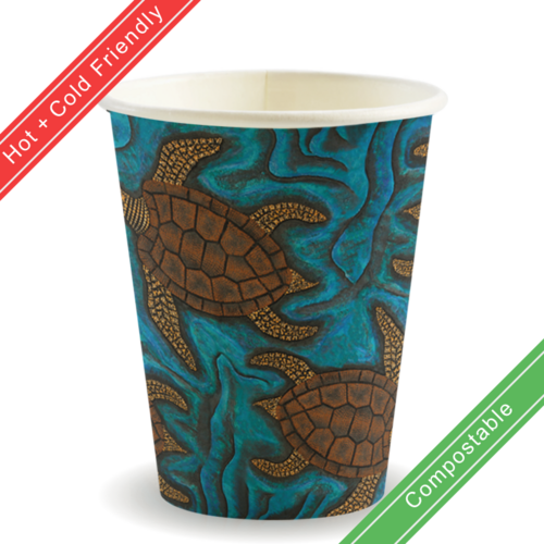 390ml / 12oz Single Wall Indigenous BioCup