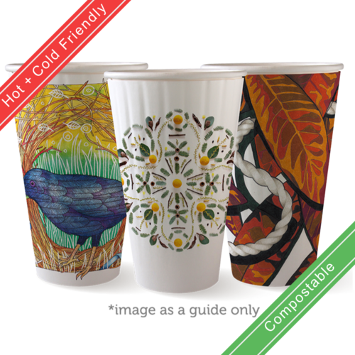 460ml / 16oz (90mm) Double Wall Art Series BioCup