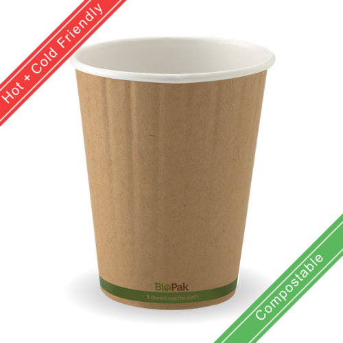 390ml / 12oz (90mm) Double Wall Kraft Brown BioCup