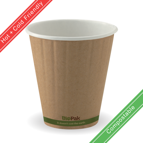 295ml / 8oz (90mm) Double Wall Kraft Brown BioCup