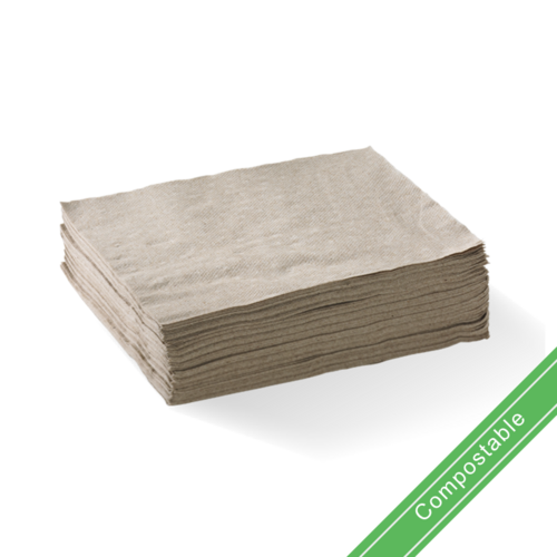 Natural - 2 Ply 1/4 Fold Lunch BioNapkin