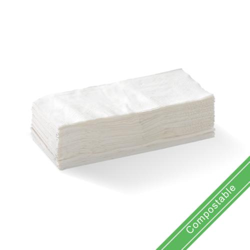 White - 2 Ply 1/8 Fold Lunch BioNapkin